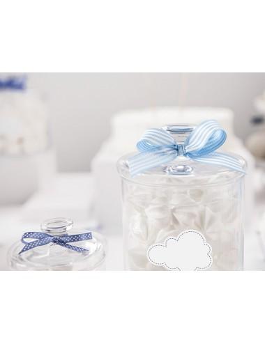 Lint blauw/wit 18mm