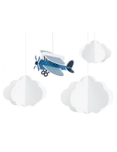 """Decoratie """"Vliegtuig"""" (4st)"""