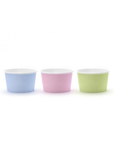 Ijsbakjes mix blauw/roze/groen (6st)