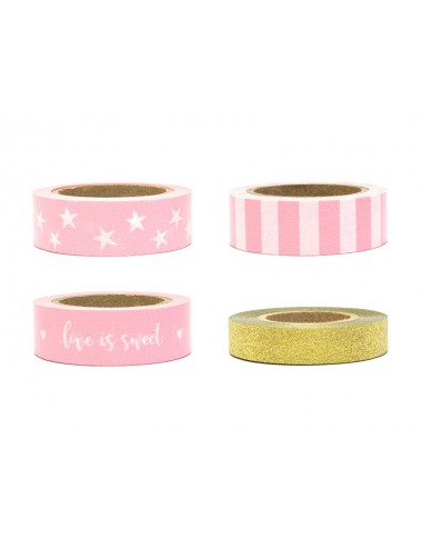 Washi tape mix roze/goud
