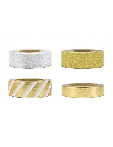 Washi tape mix zilver/goud