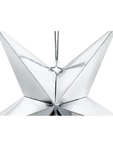 Decoratie ster zilver