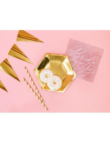 Papieren bordjes goud (6st)