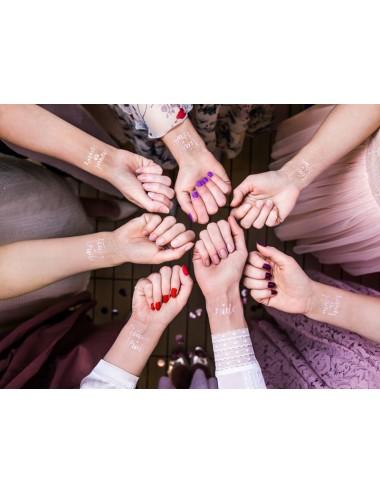Tattoos Bachelorette rosegoud (13st)