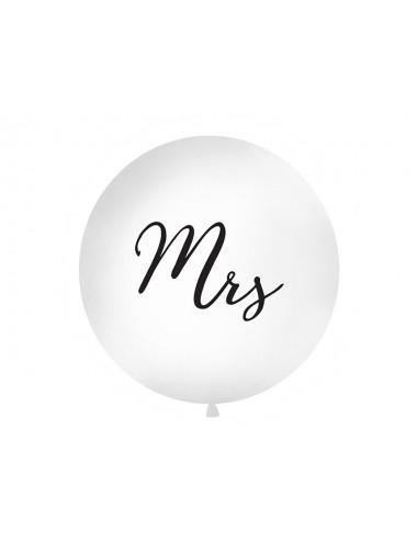 """XL Ballon """"Mrs"""" zwart"""