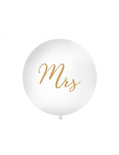 "XL Ballon ""Mrs"" goud"