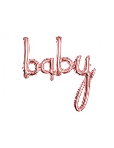 "Folieballon roségoud ""baby"""
