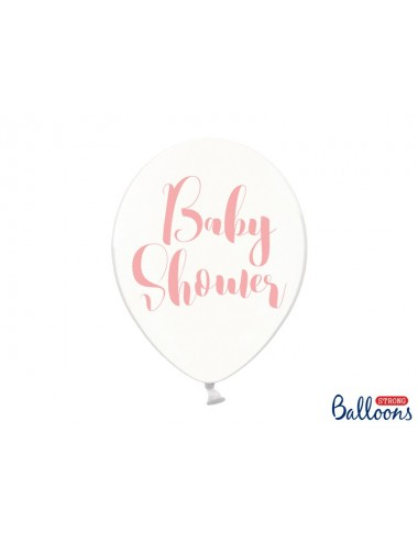 "Ballonnen ""Babyshower"" roze (6st)"