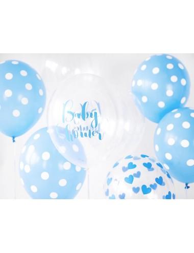 """Ballonnen """"Babyshower"""" blauw (6st)"""