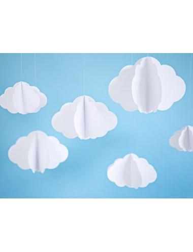 Decoratie wolken (3st)
