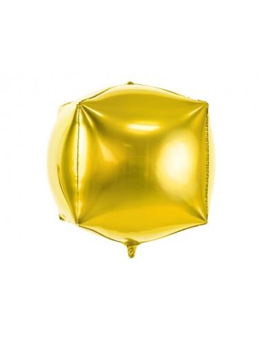 Folieballon kubus goud