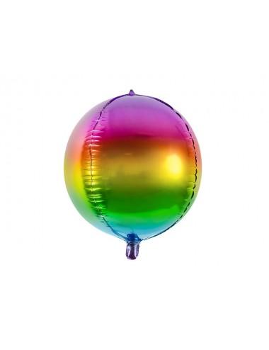 Folieballon bal regenboog
