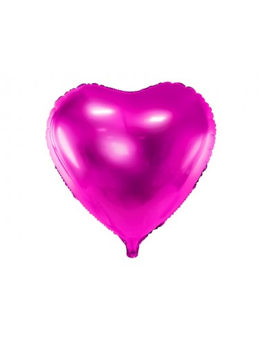 Folieballon hart donkerroze