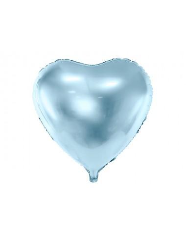 Folieballon hart blauw