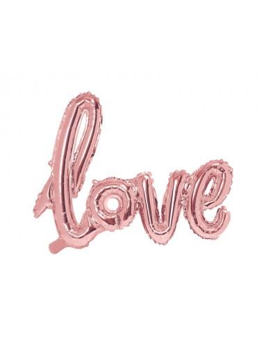 "Folieballon roségoud ""love"""