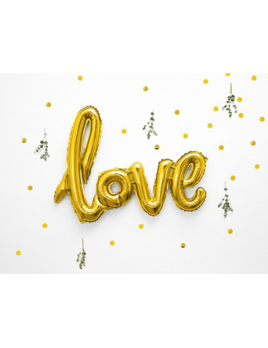 "Folieballon goud ""love"""