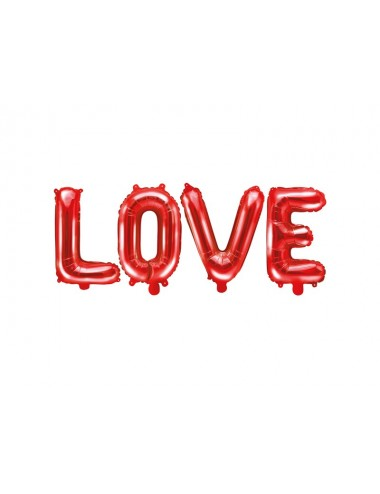 "Folieballon rood ""love"""