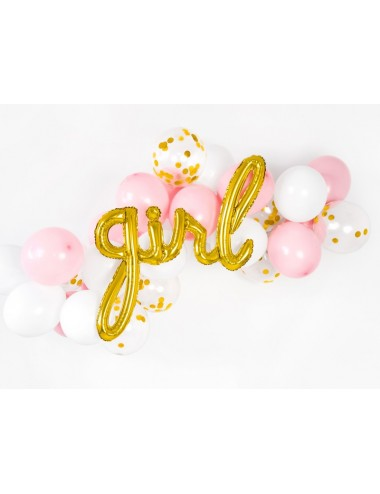 "Folieballon goud ""girl"""