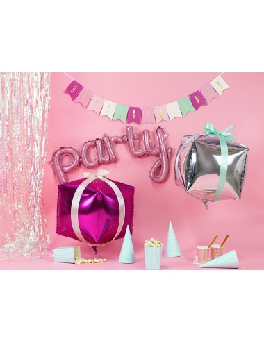 "Folieballon roze ""party"""