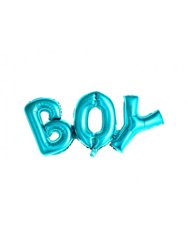 "Folieballon blauw ""boy"""