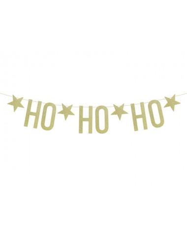 """Slinger """"Ho Ho Ho"""" goud"""