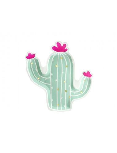Papieren bordjes cactus (6st)