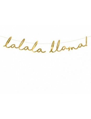 "Slinger goud ""Lalala Llama"""