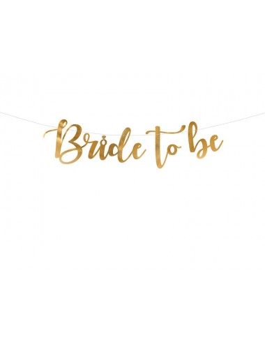 "Slinger ""Bride to be"" goud"