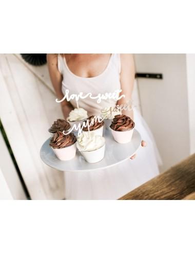 Cupcake Wrappers mix met zilveren rand (6st)