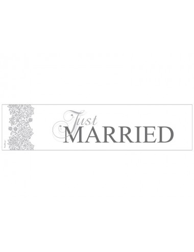 "Nummerbord ""Just Married"""