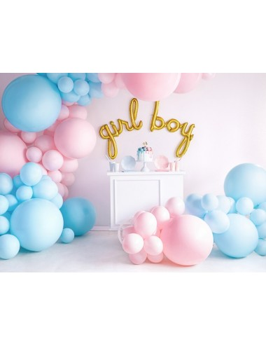 XL Ballon pastel light blue
