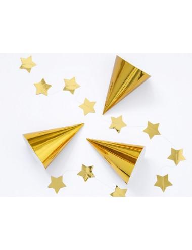 Feesthoedjes goud (6st)