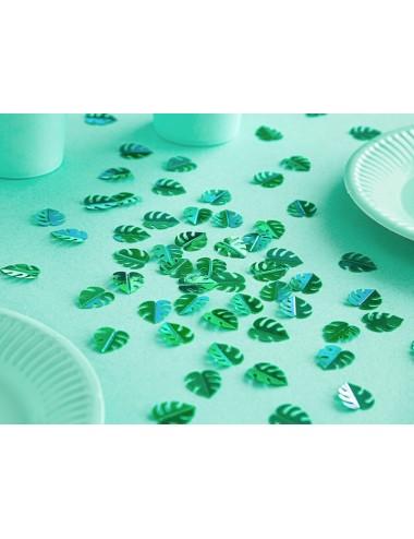Confetti metallic groen...