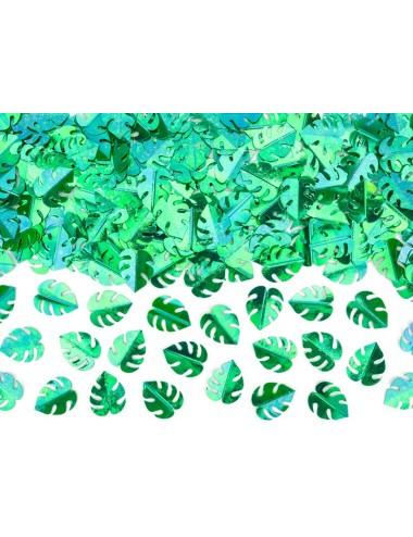 Confetti metallic groen bladeren