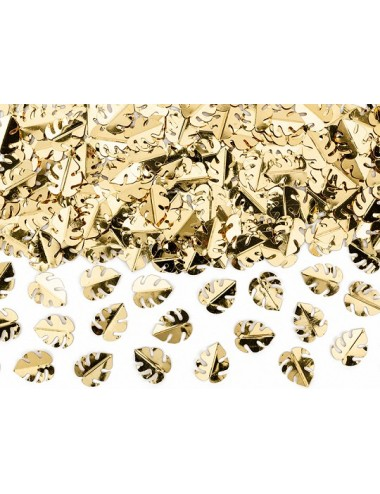Confetti metallic goud bladeren