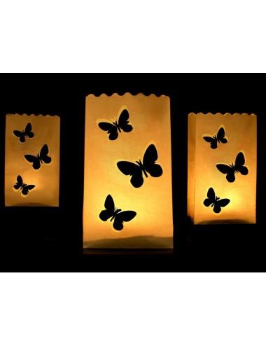 Papieren Waxinelichthouders Vlinder
