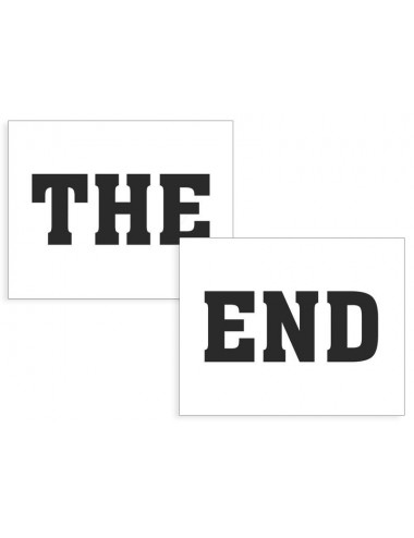"Schoenstickers ""THE END"""