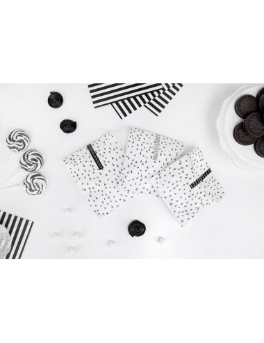 Uitdeelzakjes zwart/wit (6st)