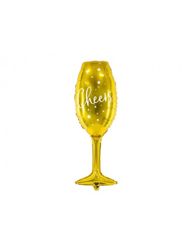 "Folieballon goud ""Cheers"""