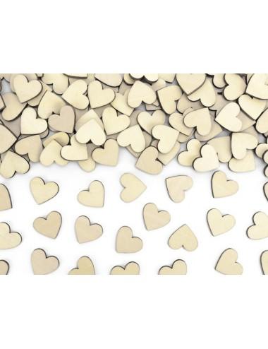 Confetti houten hartjes