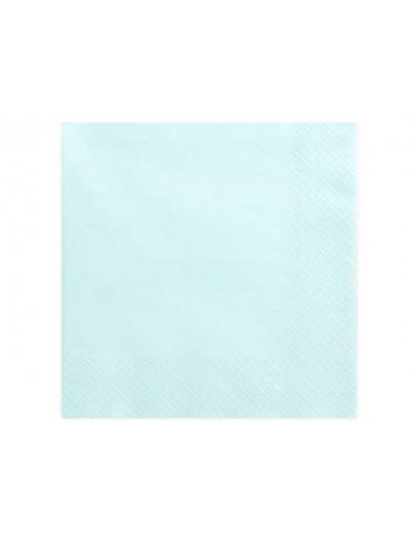 Lichtblauwe servetten (20st)
