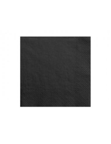 Zwarte servetten (20st)
