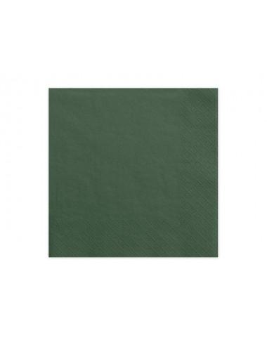 Donkergroene servetten (20st)