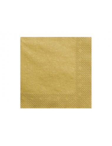 Metallic goud servetten (20st)