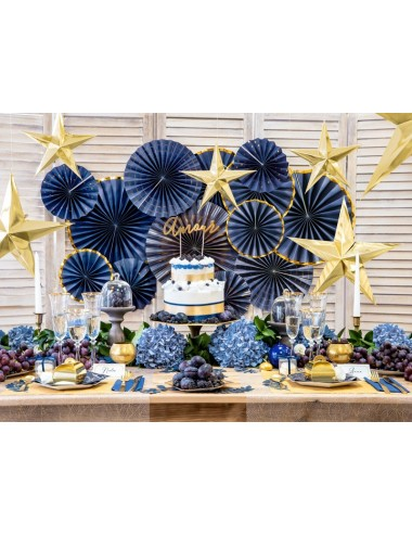 Donkerblauwe servetten (20st)