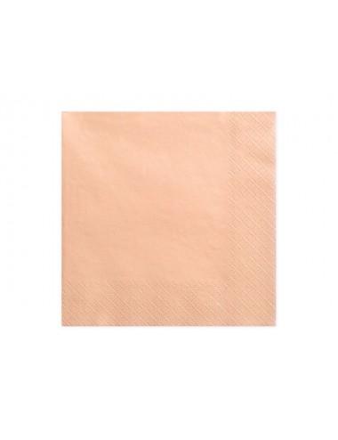 Zalmkleurige servetten (20st)
