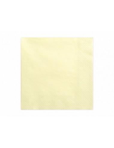 Cremekleurige servetten (20st)