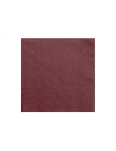 Donkerrode servetten (20st)