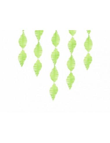 Crêpe slinger fringe groen