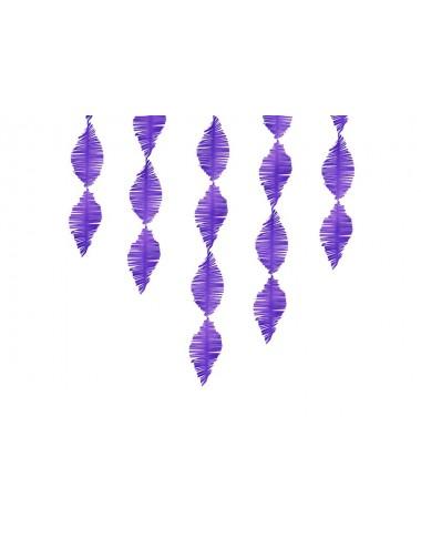 Crêpe slinger fringe paars